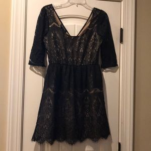 Black and Tan lace dress size S